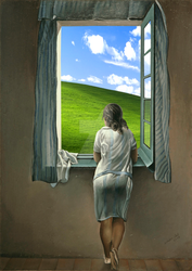 Woman At The Window - Windows XP Edition by iThinkApple96