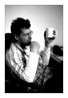 pondering the coffee cup by redux