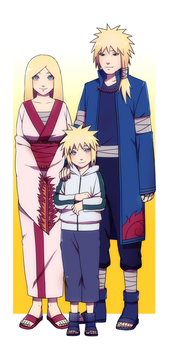 Minato and his parents by Rarity-Princess