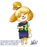 Commission: Isabelle by AngelJay13