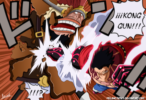 One Piece 837 - Luffy vs Charlotte Cracker by Melonciutus