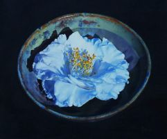 Camellia - Oil Painting by AstridBruning