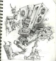 robo-boombox by josechemtrail
