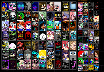 [DA] O.C. Custom Night Roster (Probably Game) by fnafeditstop