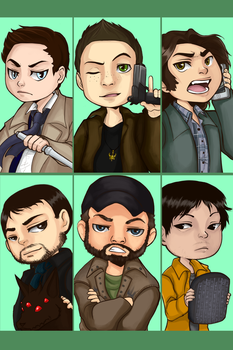 Chibi Team Free Will by MidnightZone
