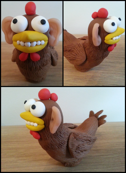 Bock The chicken with human ears.. by kirstipoo
