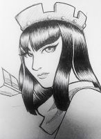 Archer Queen Fan Art (Clash of Clans) by kardia-selencio