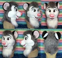 Juniper Opossum Head by LobitaWorks