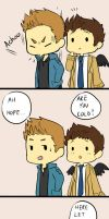 Destiel strip by ChiyoPurr