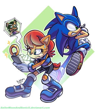 Sonic, Sally, and NICOLE by SailorMoonAndSonicX