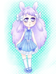 Pastel lavender bunny by Himekamome
