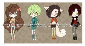 Adoptables set 1 [open] by SahneCreamKuchen