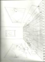 Perspective Room Drawing by Musicgirl1796
