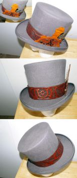 Finished Leather Hat Band by TrifinityCosplay