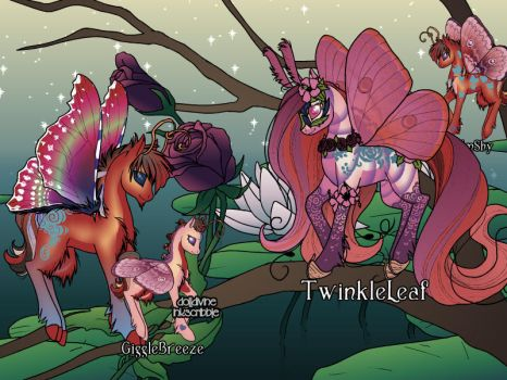 My Flutterbug family by ZhaneAugustine