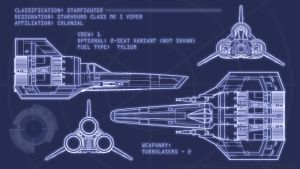 Colonial Viper Blueprints by Ravendeviant