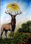 the old stag by wildelbenreiter