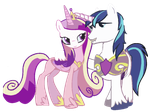 Princess Cadance and Shining Armor by x-Princess-Cadance-x