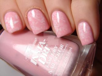Delicate Saran Wrap Nails by Animalluver1985