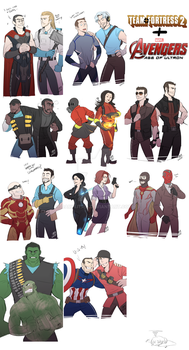 AvengersAOU:TF2 crossover by DarkLitria
