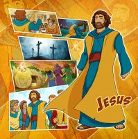 Bible Super Heroes: Jesus 2 by eikonik