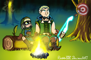 Bandit and Magic Archer by RashkaKir