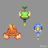 Turtwig Mallet, Chimchar Claws or Piplup Wand?