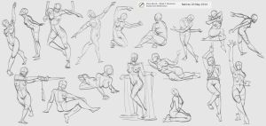 17 poses by rattree