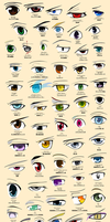Anime Eyes Poster (Colored) by VictoriaChen