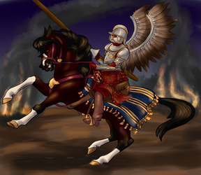 the winged hussar by ClericHorse