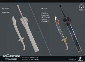 Cross-Fate - Weapons Texturing by davislim