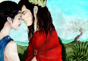 Orpheus and Eurydice by llewllaw