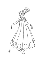 Lampshade Fashion by gingersketches