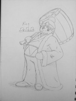 King DeDeDe (As a Human) by FlameBlood2