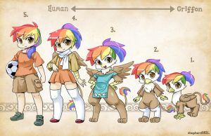 OC Types-Rainbow Feather by shepherd0821