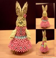 Easter Bunny Origami by collarander
