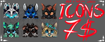 Icons commissions 7$ by Drerika