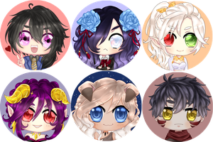 Army of chibis by Douce-Edel