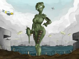 Giantess Draw - 6th of June by Colonel-Gabbo