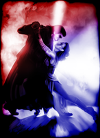 Reylo Kylo-Ren and Rey Tango of Light and Dark by JasmineAlexandra