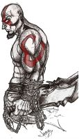 Kratos the God of War by TheJazzyT