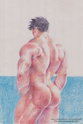 colorpencil ass by inmomakuro