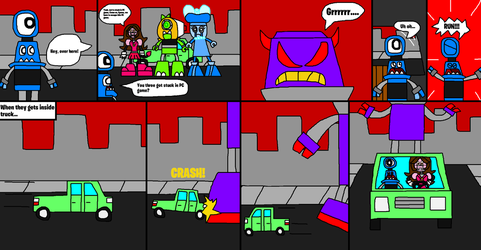 Mixels: Holiday Madness comic (page 3 and 4) by Luqmandeviantart2000