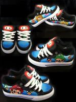 Custom Marios by manicimages