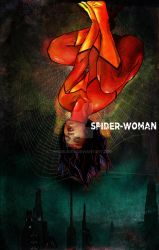 Spider Woman Hanging by Thegerjoos