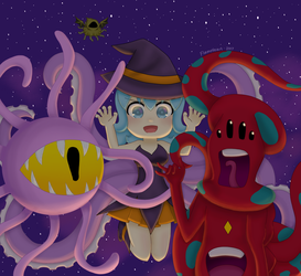 Tentacle Halloween~ by FlameHeartxx