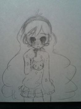 Mabel Anime Style Sketch by Chr-ali3