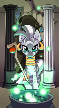 My little pony tarot card 2. The High Priestress - by kairean