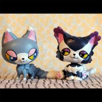 Glameow and Purugly inspired LPS customs