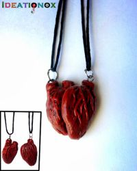 Anatomical Broken Heart Necklaces by Ideationox